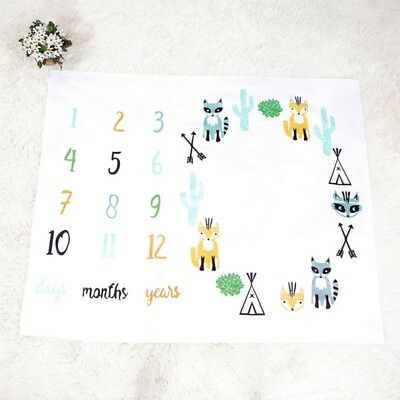 Newborn Baby Blanket First Year Monthly Growth Photography Photo Props Cloth UK