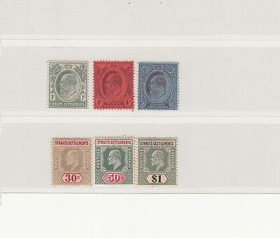 1904/05 Straits Settlements Stamps | KEVII | MH | Cat £271