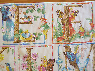 LETTER FAIRIES  Fabric Panel  FANTASY ALPHABET 26 mini panels OOP SHIRLEY BARBER