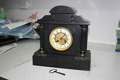 Beautiful Antique Kilpatrick & Co Marble Mantle Clock With Key (Working).