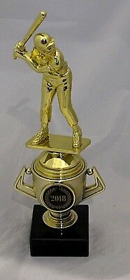 Male Baseball Batterer Figurine Trophy 215mm on Mini Gold Cup Engraved FREE