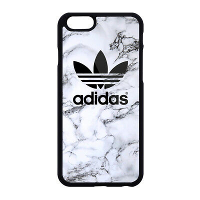 on sale fb299 d733b ADIDAS LOGO WHITE Marble Print Plastic Case iPhone 5s 6s 7 8 X XS Max XR  (Plus)