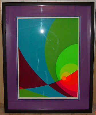 """Herb Aach Limited Edition Silkscreen Lithograph """"Split infinity B2S""""signed&numer"""