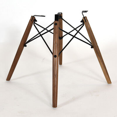 Eames REAL American Walnut Dowel Base, Black Frame - for Shell Chair NEW