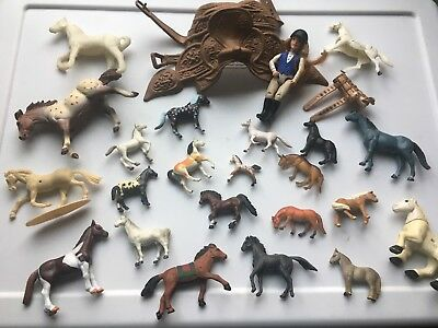 Mine Horse Figurine LOT 25 pc RARE Small Miniature Collectable Set Vintage Mix