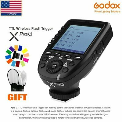 Godox Xpro-C E-TTL II 2.4G X System Wireless LCD Transmitter Trigger for Canon