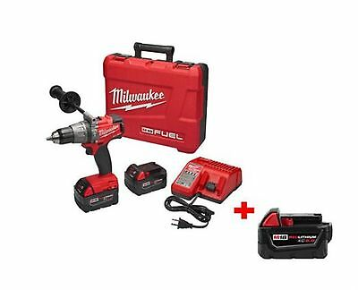 M18 FUEL 18-Volt Lithium-Ion Cordless Brushless 1/2 in. Hammer Drill Driver Kit