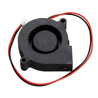 Blower Cooling Fan 2 Pin Wires 5015S 12V 0.14A 50x15mm Black Brushless DC Cooler