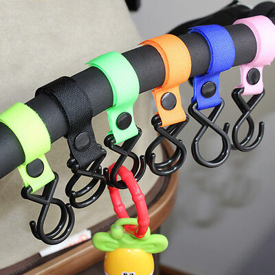Universal Mummy Buggy Clip Baby Pram Pushchair Stroller Hook Shopping Bag Holder