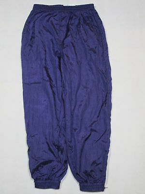 Trainings Hose Vintage Track Jump Pant Nylon Glanz Lila Shiny Bad Taste 40/42 M