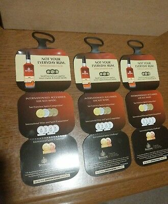 3 Bundaberg Rum Small Batch Neck Tag - Glass Bottle