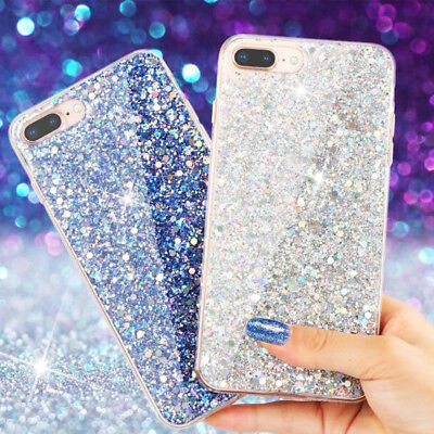 For Apple iPhone X Sparkle Bling Shockproof Light Slim Soft Covers Case