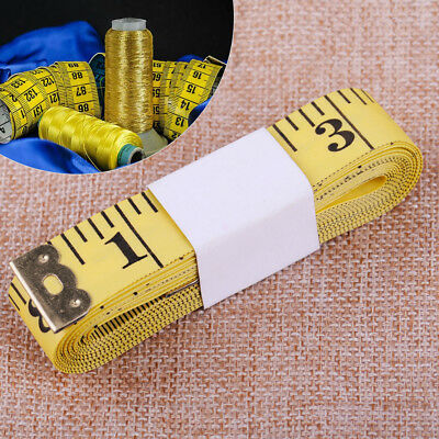 120''/300cm Soft Ruler Sewing Tailor Tape Measure For Clothing Measuring Yellow