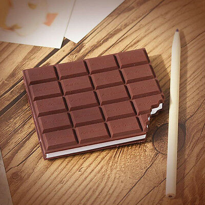 LC_ Tempting Chocolate Cover Notebook Creative Sticky Note Office Stationery U