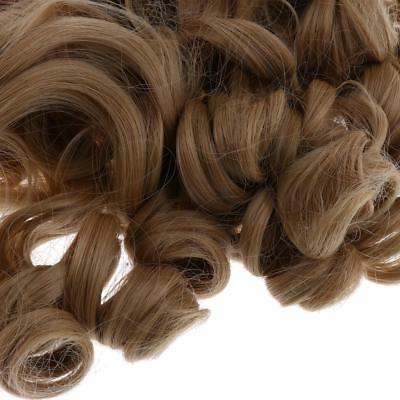 40cm Khaki Curly Wig Hairpiece for 18 inch American Girl Dolls Accessories