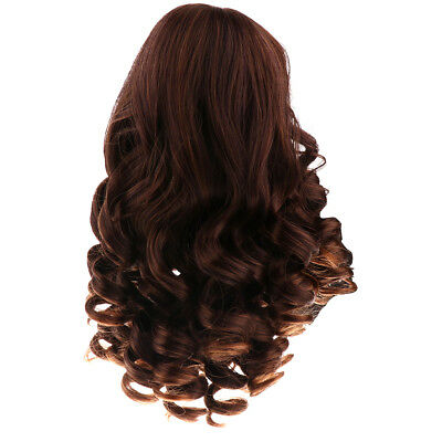 40cm Black Curly Wig Hairpiece for 18 inch American Girl Dolls Accessories