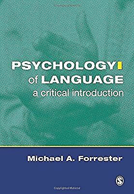 Psychology of Language: A Critical Introduction, Forrester, Michael A, Used; Ver