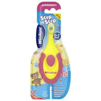 Wisdom Step By Step Super Soft Toothbrush - For Children of 0-2 Year Old