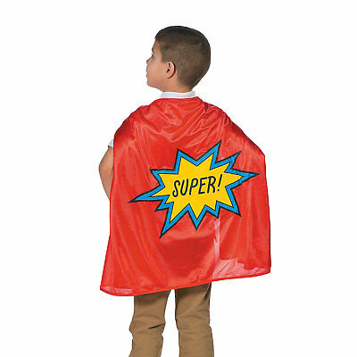 "NEW Red Superhero Cape - Polyester 68"" x 26"" - Brithday Party Fancy Dress Play"
