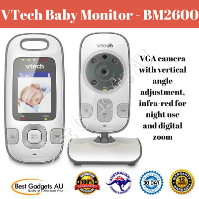 VTech Baby Monitor - BM2600 Wall Mount Audio Video Baby Safety Camera Portable