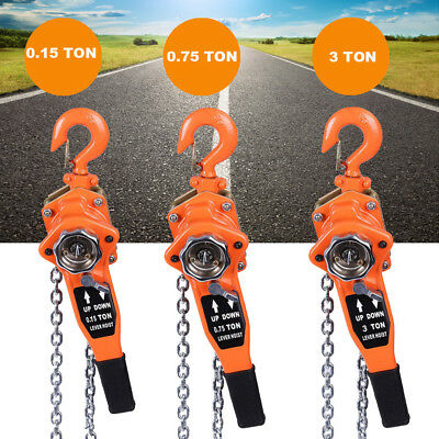 0.75/1.5/3 TON Chain Block Hoist Garage Car Engine Heavy Load Lifting Tool 3M UK