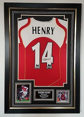 367fc034ded RARE THIERRY Henry of Arsenal Signed Shirt Luxury Legend Display ...
