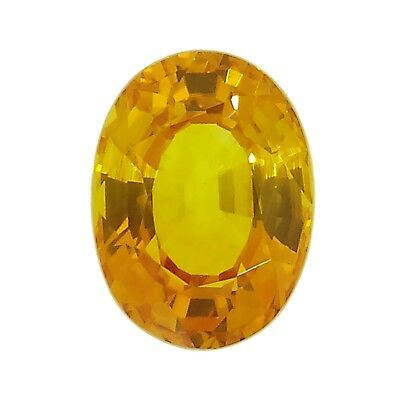 oval cut natural yellow sapphire 0.96ct Genuine Loose gemstones NR