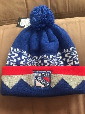21303ab969173f NEW YORK RANGERS 2018 Winter Classic Cuffed Pom Knit Players Adidas ...