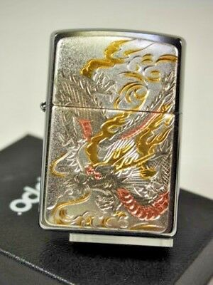 Zippo Japanese Dragon Electroforming Beautiful Japan Linited Collection F/S New