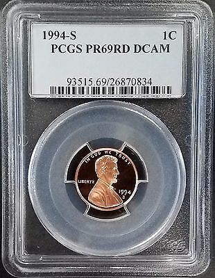 1994 S Proof Lincoln Cent certified PR 69 RD DCAM by PCGS!
