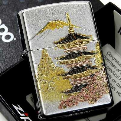 Zippo Japanese Kyoto Five-Storied Pagoda Japan Limited Collection Oil Lighter