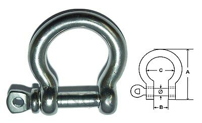 Manille Lyre 16mm Libre inox 316 - A4 --