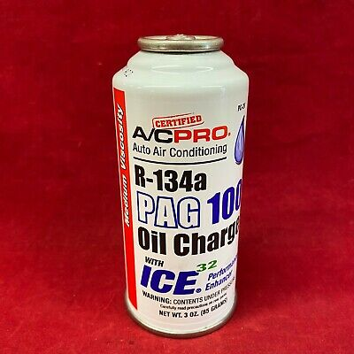 A/C PRO Auto Air Conditioning R-134a Pag 100 Oil Charge W/ O-ring Conditioner