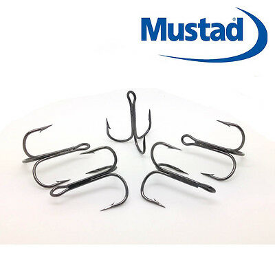 Mustad Treble Hooks 35647 Black Nickel, Size 2-6  Flying C's Pike Lures,