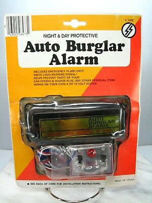 Vintage SAFER'S E 3006 AUTO BURGLAR ALARM Automotive 6 or 12 Volt IN PACKAGE