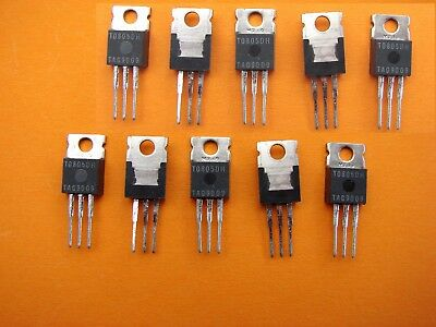 T0805Dh 400V 8A Triac  To220 Sensitive Gate Lot Of 10  Tag Semiconductor