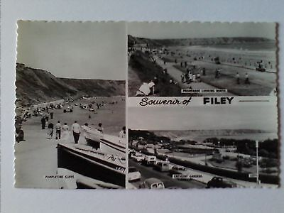 Vintage Bamforth Postcard Souvenir of Filey Black and white unposted