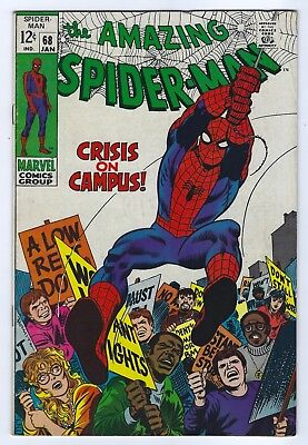 The Amazing Spider-Man #68 Jan 1969 Marvel High Grade Stan Lee Comic 8.0 VF