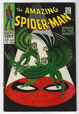 The Amazing Spider-Man #63 Aug 1968 Marvel Vulture Silver Age Comic Book 6.0 FN