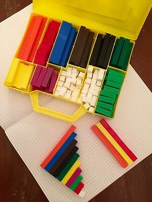 Cuisenaire Style Rods - Large 200 Piece Set - In Carry Case - Home or Schools
