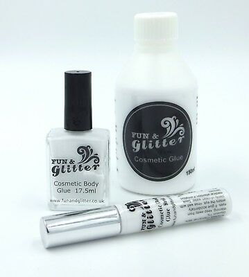 GLITTER TATTOO GLUE - COSMETIC BODY ART ADHESIVE - Long lasting & skin safe