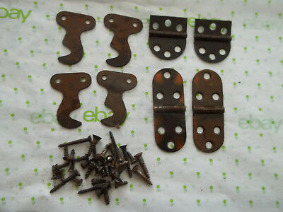 Lot of Salvaged Singer Treadle Sewing Machine Hinges, Parts & Screws, Free S/H