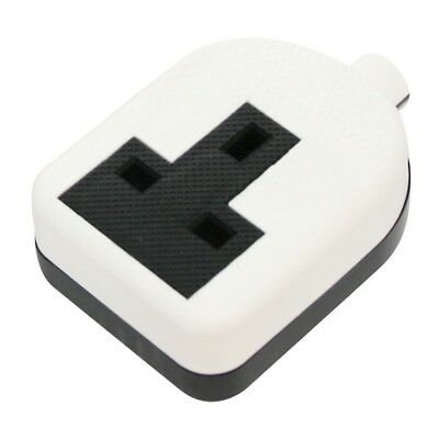 New! Hard Rubber 1 Gang White Trailing Extension Socket 13A Impact Resistant