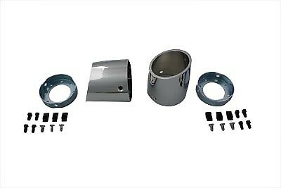 """Slash Style Tips for 4"""" Mufflers for Harley Replacement for Custom Pipes"""