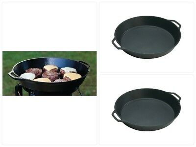 """Cast Iron Skillet 17 in"""" Two Looped Handles Cooking Cookware Frying Pan Kitchen"""