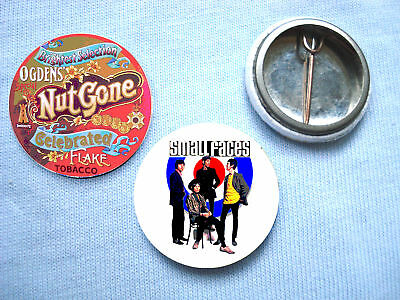 Small Faces - 2 Badge Set Oasis Paul Weller Stone Roses