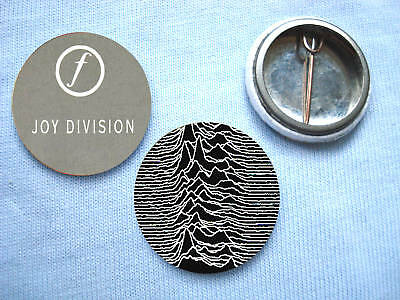 Joy Division- Set Of 2 Badges Ian Curtis New Order
