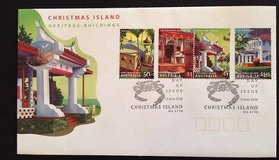 2006 Christmas Island Heritage Buildings FDC