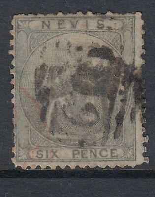 Nevis 1862 6d Grey-Lilac SG3 Fine Used