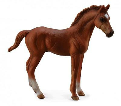Breyer Horses Corral Pals Chestnut Thoroughbred Standing Foal #88671, TB, Brown